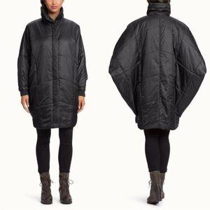 Nau Women's Black Synner Cape Jacket Sz M/L